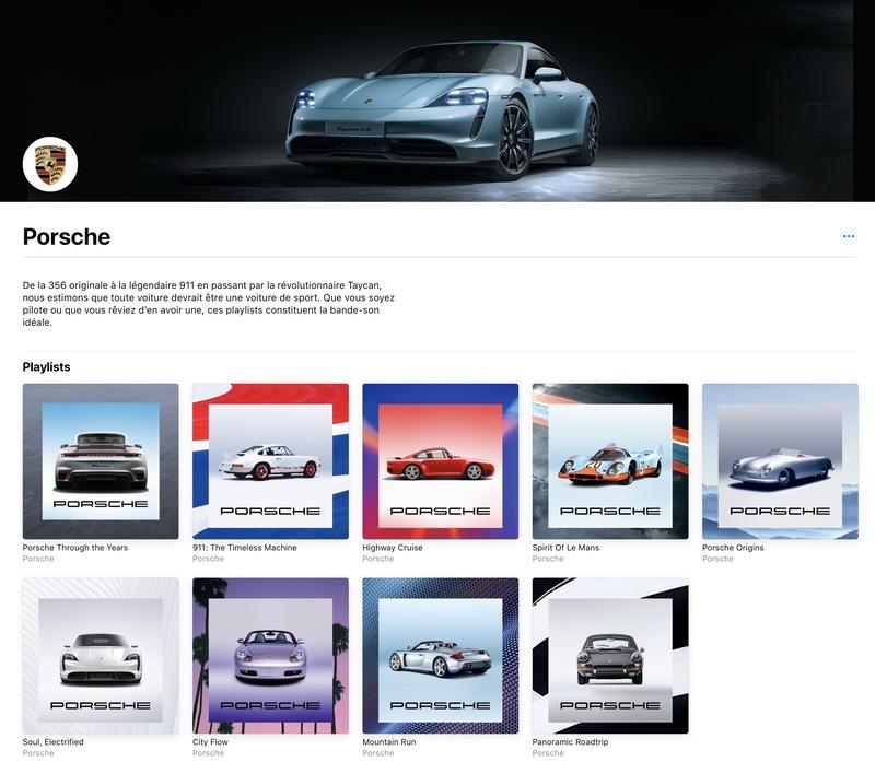 Illustration : L'intégration native inédite d'Apple Music dans la Porsche Taycan