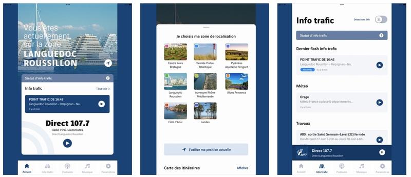 Illustration : L'app Vinci Autoroute est compatible CarPlay !