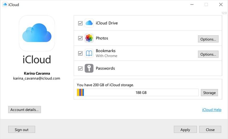 Illustration : iCloud pour Windows 12.5 ajoute un gestionnaire de mot de passe