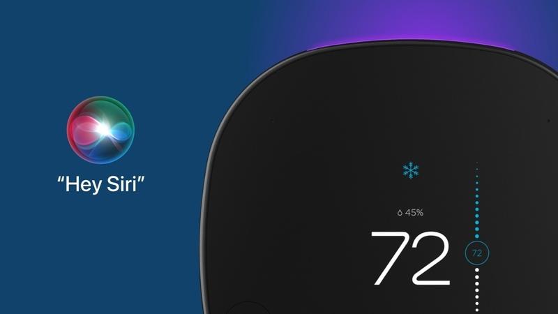 Illustration : Le thermostat Ecobee devient compatible Siri et AirPlay (via un HomePod mini)