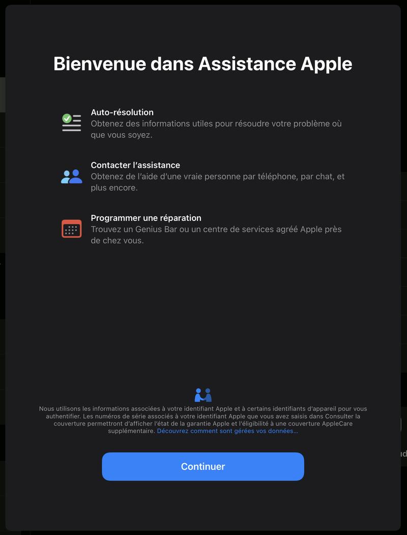 Illustration : Assistance Apple est mise à jour sur iOS
