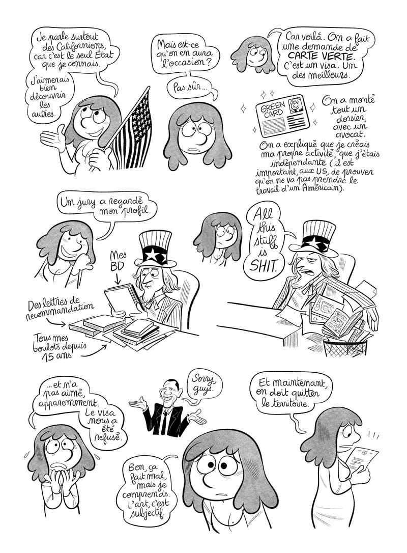 """Illustration : BD Planche #9 : """"Californid 2"""", par Laurel"""