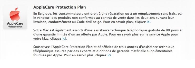 Illustration : Apple se plie à la loi belge sur la garantie