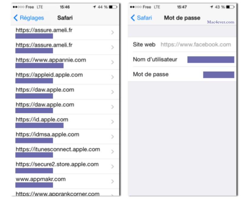 Illustration : Astuce : retrouver ses mots de passe iCloud depuis son iPhone / iPad