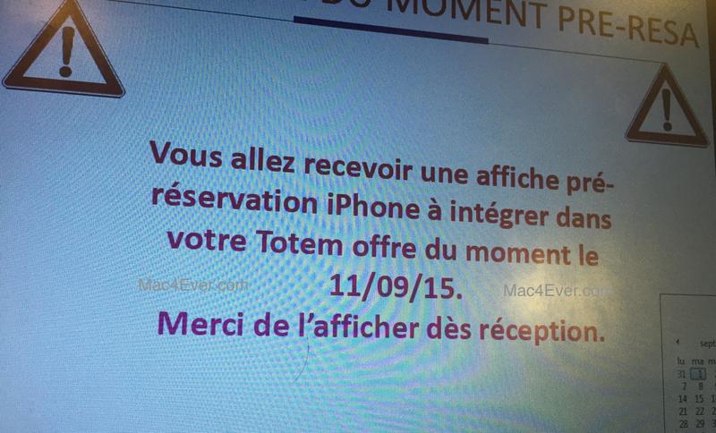Illustration : Les pré-réservations pour l'iPhone 6s ouvriront le 11 septembre prochain en France !