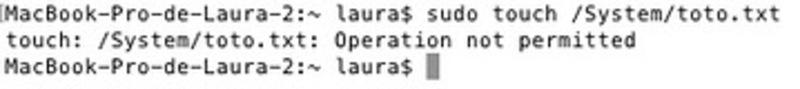 """Illustration : El Capitan : retrouver un vrai """"root"""" et désactiver le """"System Integrity Protection"""""""