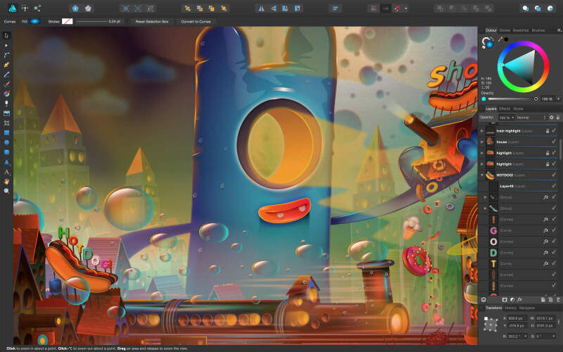 Illustration : Affinity Designer en promo à -20% pendant une semaine