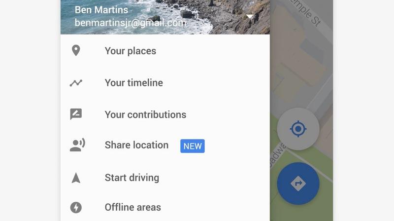 Illustration : Google Maps permettra bientôt de partager sa localisation en temps réel