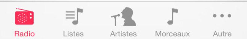 Illustration : iOS 7 : on a testé iTunes Radio !