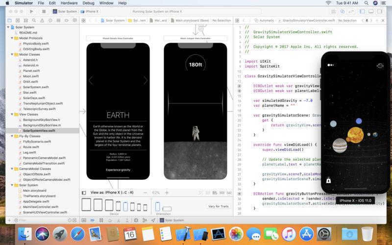 Illustration : Xcode passe en version 9