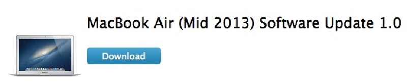 Illustration : MacBook Air (Mid 2013) Software Update 1.0 corrige le bogue Wi-Fi