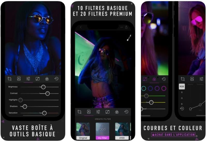 Illustration : L'application photo Darkroom s'équipe de la gestion du mode portrait et de filtres adaptés
