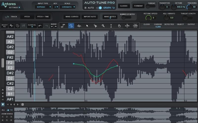 Illustration : Test d'Auto-Tune Pro, Access et Key : le leader de la correction vocale étoffe son offre