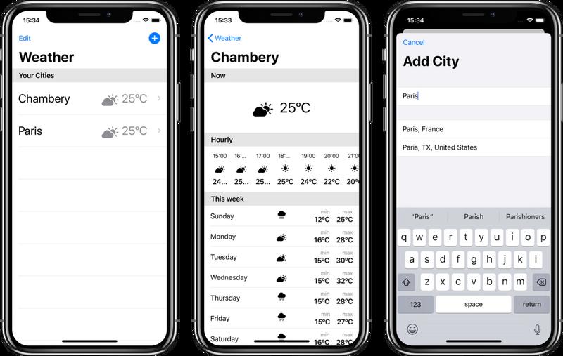 Illustration : Tuto : Créer un app de météo avec SwiftUI