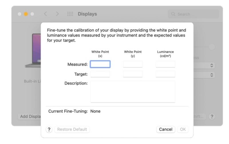 """Illustration : Apple explique comment créer un réglage personnalisé pour les dalles des MacBook Pro 14 et 16"""""""